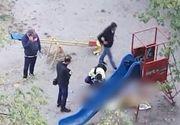 VIDEO | Tânăr găsit mort lângă un tobogan, în Craiova. Ce au descoperit criminaliștii