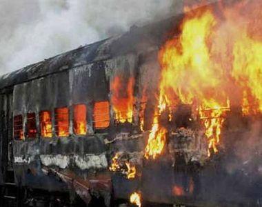 Tragedie! Peste 100 de victime după ce un tren a luat foc!  IMAGINI DIN IAD!