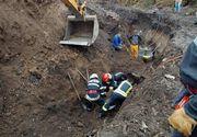 Anchete după moartea muncitorului prins sub un mal de pământ, pe un şantier din Braşov; el a fost decapitat de cupa excavatorului folosit la intervenţie