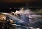 Accident de proporții pe Autostrada A2. Un TIR s-a răsturnat și a ars în totalitate