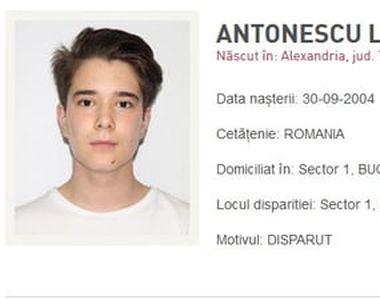 Poliţia Capitalei cere sprijin pentru găsirea unui băiat de 15 ani care a plecat, în...