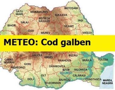 Anunț Meteo de ultimă oră: COD GALBEN pentru 13 județe din țară