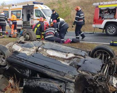 Accident cumplit pe autostrada A1! O studentă a murit, alți doi sunt în stare critică