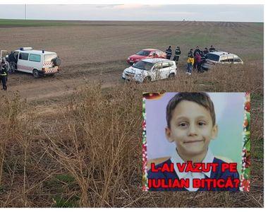 Ipoteză înfiorătoare în cazul lui Iulian Bițică, băiețelul de 8 ani care a dispărut la...