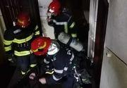 Un bărbat a fost intoxicat cu fum în urma unui incendiu izbucnit într-un apartament