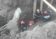 Muncitor prins sub un mal de pământ în Teleorman; el a fost scos, fiind în stop cardio-respirator şi se fac manevre de resuscitare