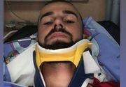 """Jucător român de fotbal, de urgență la spital: """"Am căzut în cap, după aceea mi s-a dus gâtul în lateral"""""""