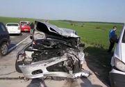Accident groaznic în Dolj: Soţ şi soţie, morţi, după ce maşina a intrat într-un TIR