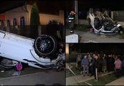 Doi iubiţi din Argeş s-au izbit cu un Range Rover în trei capete de pod. Bucăţi din maşină au zburat zeci de metri după impact