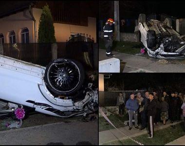 Doi iubiţi din Argeş s-au izbit cu un Range Rover în trei capete de pod. Bucăţi din...