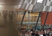 VIDEO | Incendiu puternic la unul dintre cele mai mari mall-uri din București