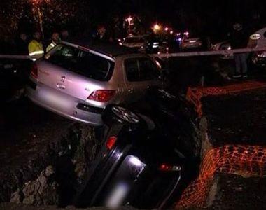 VIDEO   A fost sau n-a fost semnalizată groapa în care au căzut două mașini? Poliția a...