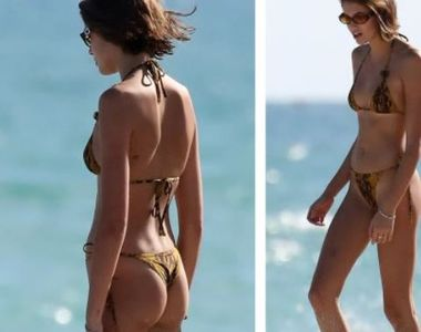 VIDEO | Fiica lui Cindy Crawford, apariție de senzație pe plajă