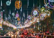 VIDEO | E Crăciun în București - 760.000 de luminiţe strălucesc pe bulevarde. Vezi cât a cheltuit primăria Capitalei
