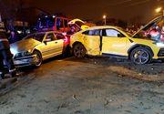 Accident violent în Capitală: daună totală pentru un Lamborghini de peste 200.000 de euro