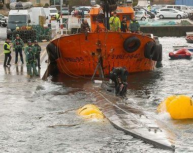 Un submarin cu 3,3 tone de cocaină la bord a fost descoperit în largul coastei Spaniei