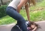 Scene șocante la un liceu din  Motru. O elevă a fost bătută  cu bestialitate de o altă colegă