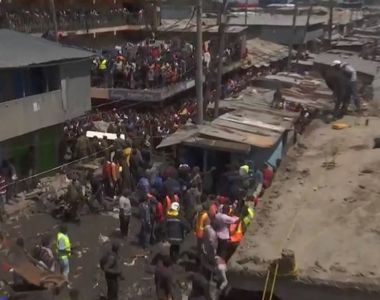 Alertă în Kenya! O clădire cu șase etaje s-a prăbușit, iar oamenii sunt prinși sub...