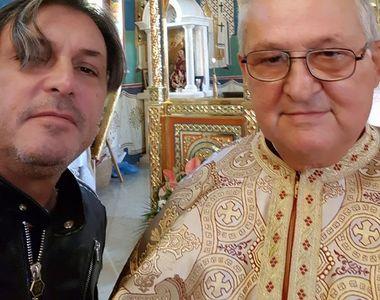 El e duhovnicul lui Cornel Galeş, pe care impresarul îl vizita pentru liniştea sa...