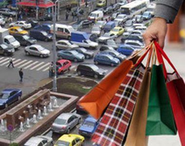 VIDEO   Goana după cadouri a paralizat Bucureștiul