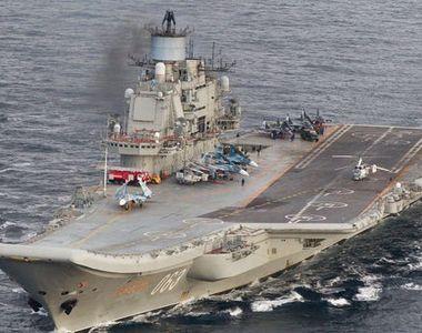 Incendiu la bordul unicului portavion rus, Amiral Kuzneţov, soldat zece răniţi, unul grav