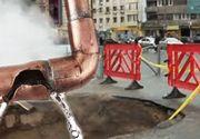 VIDEO | Țevile plesnesc, angajații Termoenergetica fac lucrări de mântuială