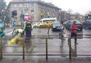 Femeie omorâtă de maşina de gunoi pe trecerea de pietoni, pe Calea Dorobanţi din Capitală