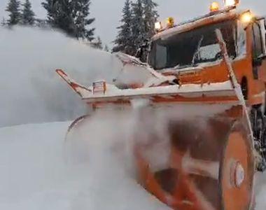 Ninsoare abundentă în România, zăpadă de 20 de centimetri în mai multe județe