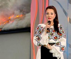 Angela Rusu momente cumplite. Restaurantul său arde în flăcări