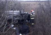 Accident de proporții pe autostradă. Un bărbat și-a pierdut viața, doi copii și un adult în stare gravă
