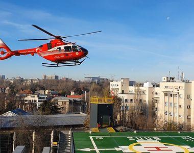 Primul pacient care a beneficiat de heliportul Spitalului Universitar! VIDEO
