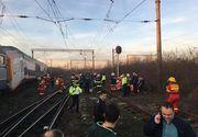 CFR Călători: Accidentul din judeţul Prahova s-a produs după ce un tren de marfă al unui operator privat a lovit trenul Regio 5008 Buzău - Bucureşti Nord - FOTO, VIDEO