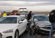 Timiş: Şapte persoane, printre care doi copii, implicate într-un accident rutier pe Autostrada A1