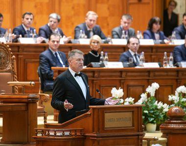 Discursul lui Klaus Iohannis la depunerea celui de-al doilea mandat de Președinte al...