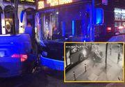 Accident în lanț în Capitală: trei mașini s-au lovit, iar în urma impactului unde dintre ele a fost proiectată într-un autobuz staționat
