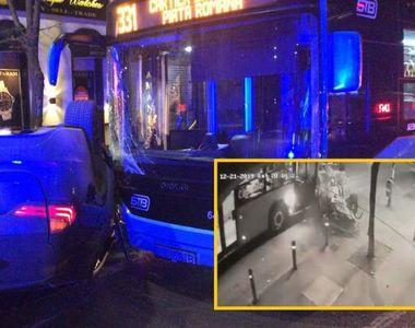 Accident în lanț în Capitală: trei mașini s-au lovit, iar în urma impactului unde...