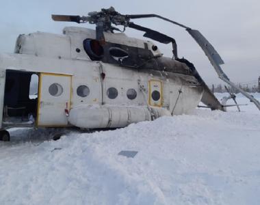 Cel puţin 15 răniţi în Siberia, în urma răsturnării la aterizare a unui elicopter de...