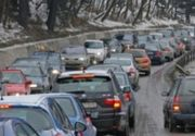 Trafic aglomerat pe sensul spre Capitală al DN 1 Braşov - Bucureşti