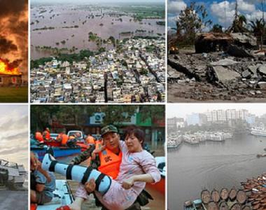 Cinsprezece catastrofe naturale legate de modificările climatice au provocat în 2019...