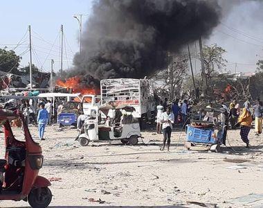 Cel puţin 73 de persoane au murit într-un atac cu un camion capcană, la un punct de...