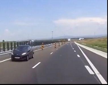 O româncă a provocat două accidente după ce a circulat pe contrasens pe o autostradă...
