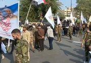 """Mii de irakieni au strigat """"Moarte Americii!"""" la funeraliile generalului Qassem Soleimani"""