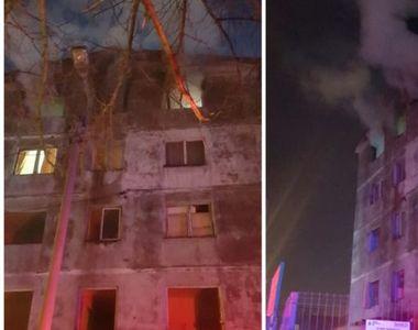 """Bărbat carbonizat într-un incendiu la """"blocul fantomă"""" din Iași"""