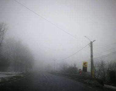 Avertizare pentru șoferi: Vizibilitate scăzută sub 50 de metri, pe Autostrada A1 Deva -...