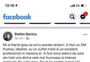 Prima reacție a lui Ștefan Bănică jr. după moartea tragică a Cristinei Țopescu