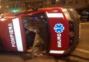 O ambulanţă SMURD în care se aflau un copil şi mama lui s-a răsturnat după ce s-a ciocnit cu un autoturism, pe Şoseaua Kiseleff din Capitală
