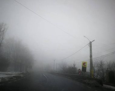 23 de judeţe sunt afectate de ceaţă; se circulă îngreunat pe mai multe drumuri,...