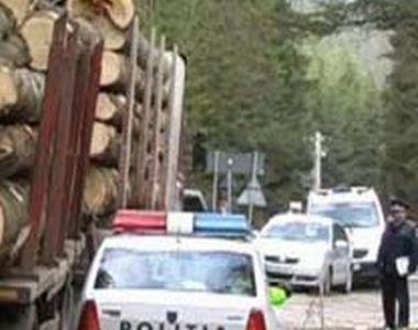 Harghita: O persoană a murit după ce buştenii dintr-un camion au căzut peste un...