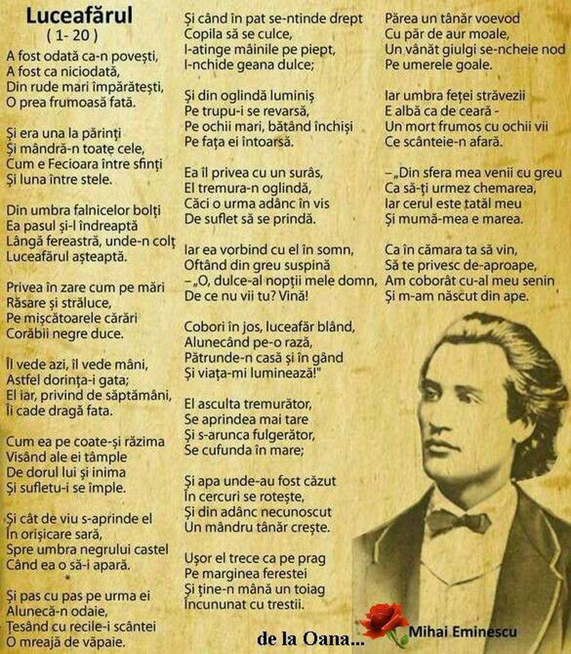 Mihai Eminescu poezii