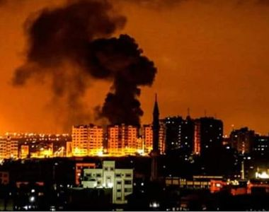 Atacuri aeriene în Fâşia Gaza vizând ţinte Hamas în urma unor tiruri de proiectile...